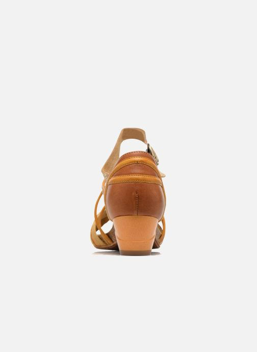 Sandales et nu-pieds Dkode Rain Jaune vue droite