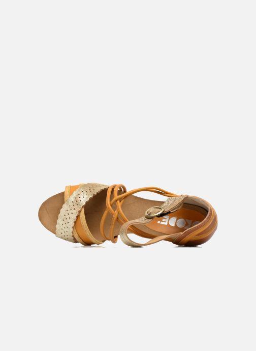 Sandales et nu-pieds Dkode Rain Jaune vue gauche