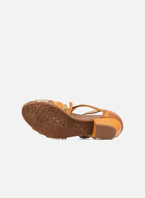 Sandales et nu-pieds Dkode Rain Jaune vue haut