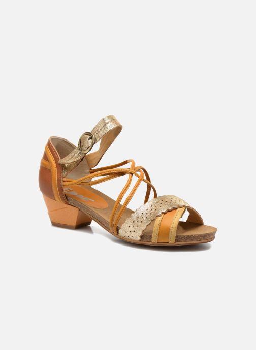 Sandales et nu-pieds Dkode Rain Jaune vue détail/paire