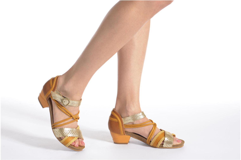Sandales et nu-pieds Dkode Rain Rouge vue bas / vue portée sac