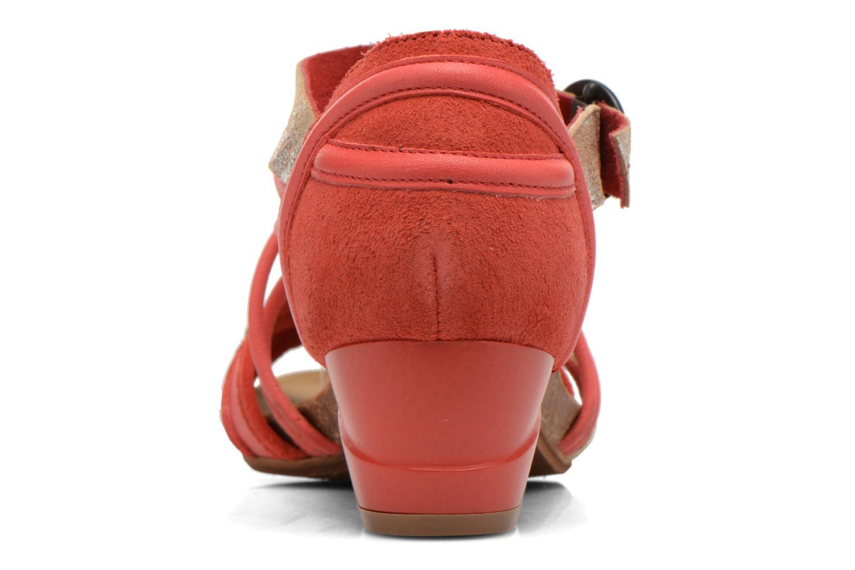 Sandales et nu-pieds Dkode Rain Rouge vue droite
