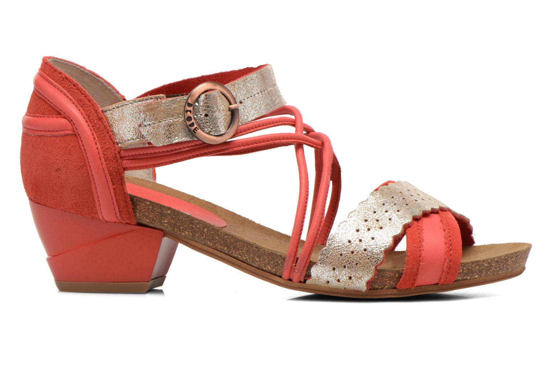 Sandales et nu-pieds Dkode Rain Rouge vue derrière