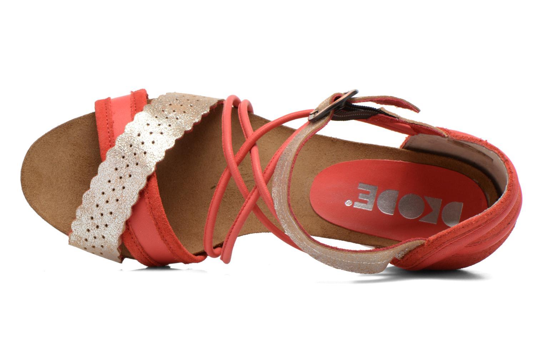 Sandales et nu-pieds Dkode Rain Rouge vue gauche