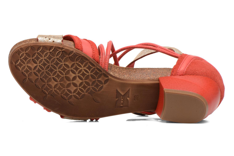 Sandales et nu-pieds Dkode Rain Rouge vue haut
