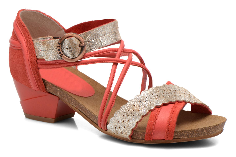 Sandales et nu-pieds Dkode Rain Rouge vue détail/paire