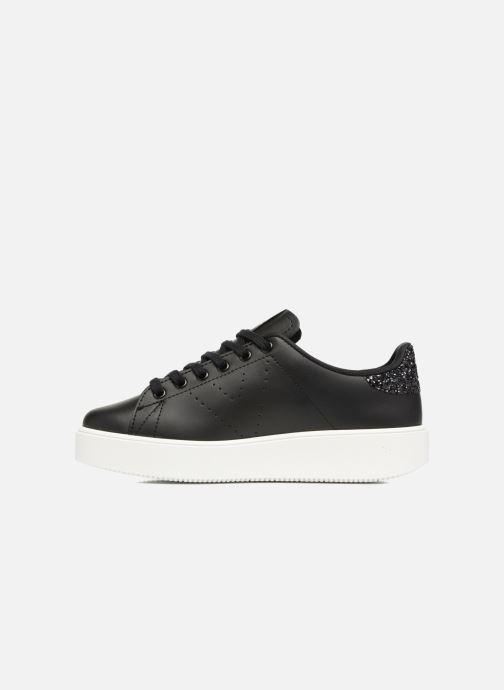 Sneakers Victoria Tenis Piel W Nero immagine frontale