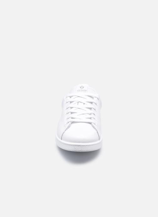 Baskets Victoria Deportivo Piel Blanc vue portées chaussures
