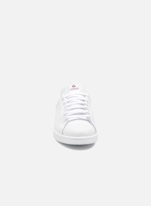 Sneakers Victoria Deportivo Piel Bianco modello indossato