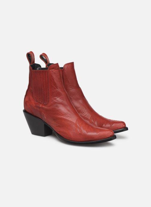 Bottines et boots Mexicana Gaucho Rouge vue 3/4