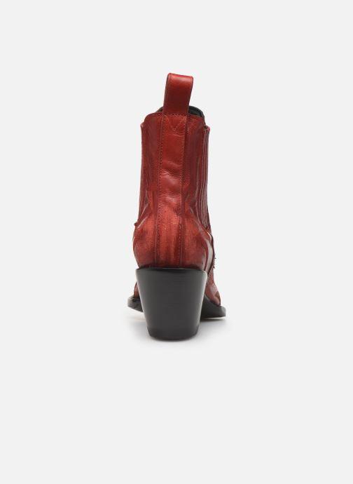 Botines  Mexicana Gaucho Rojo vista lateral derecha