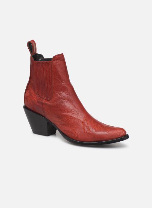 Ankelstøvler Mexicana Gaucho Rød detaljeret billede af skoene