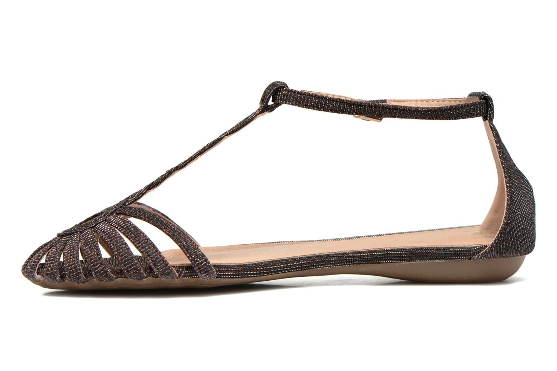 Sandales et nu-pieds Refresh Monica Or et bronze vue face