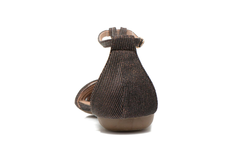 Sandales et nu-pieds Refresh Monica Or et bronze vue droite