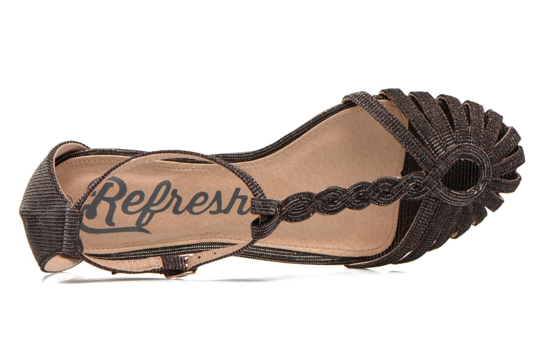 Sandales et nu-pieds Refresh Monica Or et bronze vue gauche