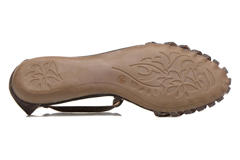 Sandales et nu-pieds Refresh Monica Or et bronze vue haut