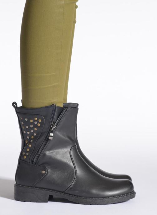 Ankle boots Enza Nucci Monica Black view from underneath / model view