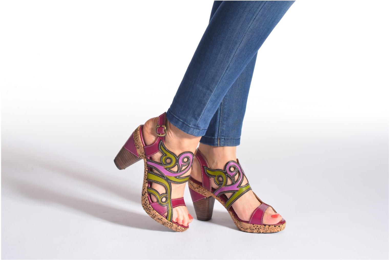 Sandals Laura Vita Vessa Multicolor view from underneath / model view