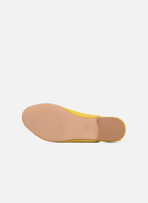 Sandales et nu-pieds Georgia Rose Gilize Jaune vue haut