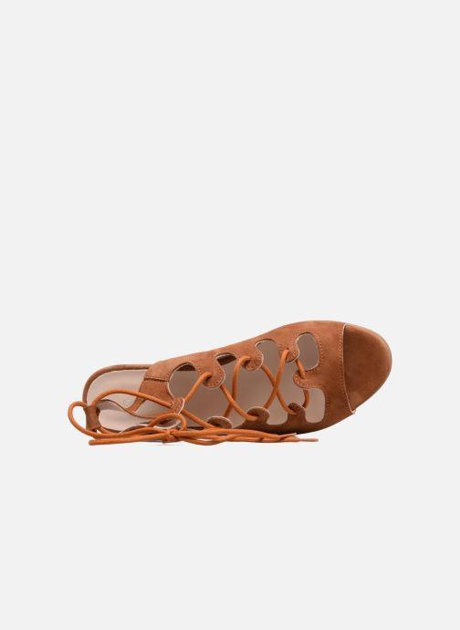 Sandales et nu-pieds Georgia Rose Gilize Marron vue gauche