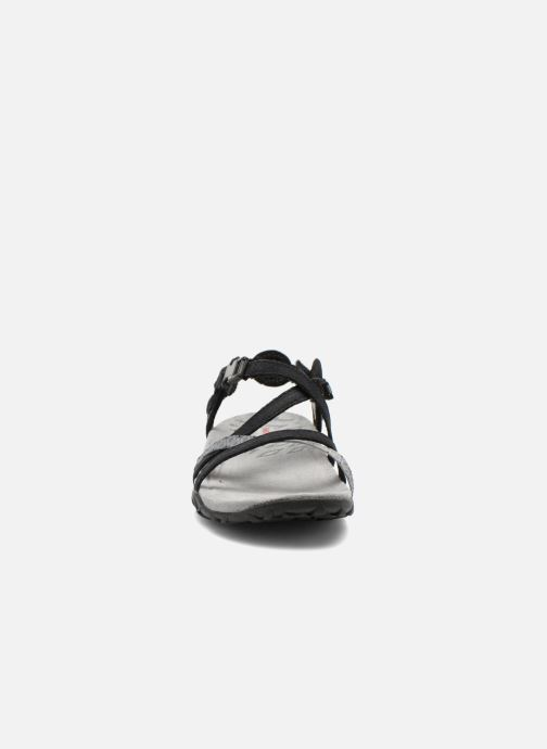 Chaussures de sport Merrell Terran Lattice II Noir vue portées chaussures