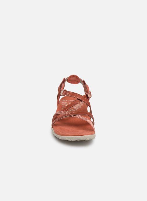 Chaussures de sport Merrell Terran Lattice II Rouge vue portées chaussures