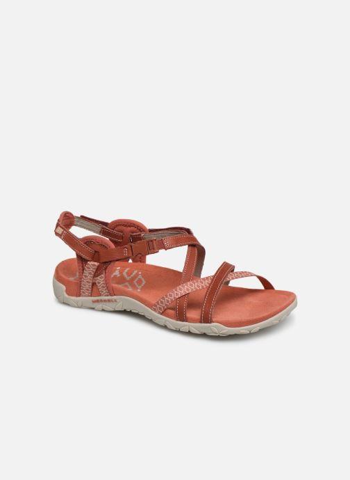 Chaussures de sport Merrell Terran Lattice II Rouge vue détail/paire