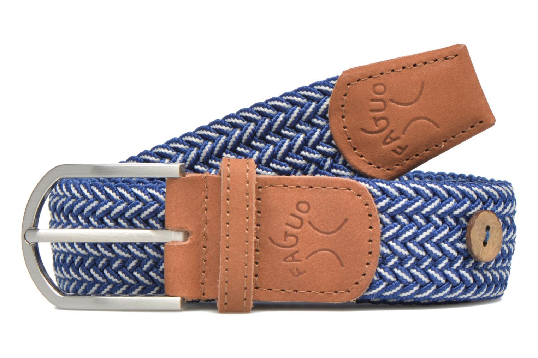 Ceintures Faguo Ceinture tressée bicolore Bleu vue portées chaussures
