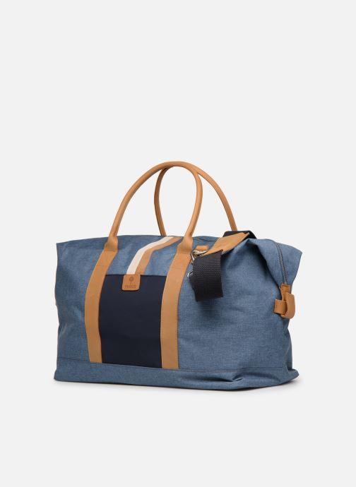Reisegepäck Faguo Weekender blau schuhe getragen