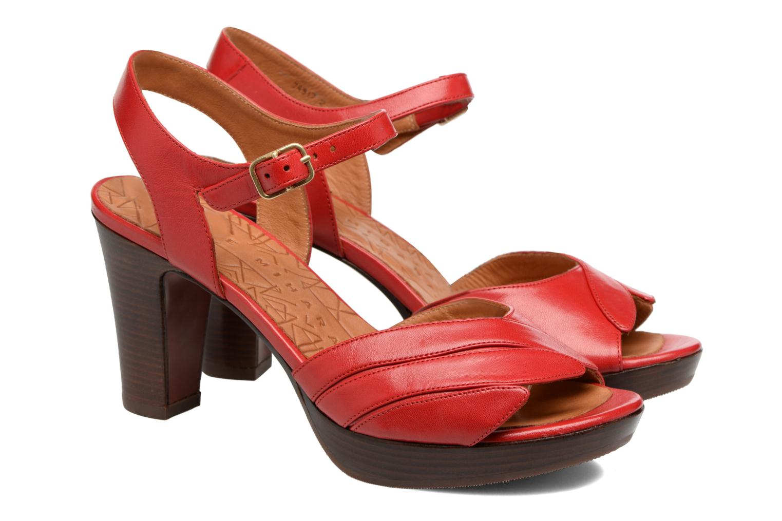 Sandals Chie Mihara Jantra Red 3/4 view