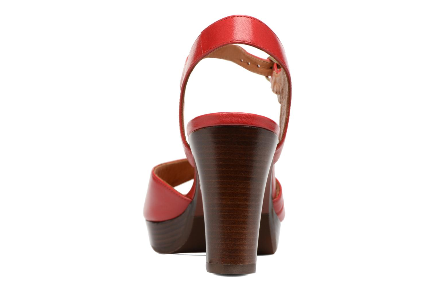 Sandals Chie Mihara Jantra Red view from the right