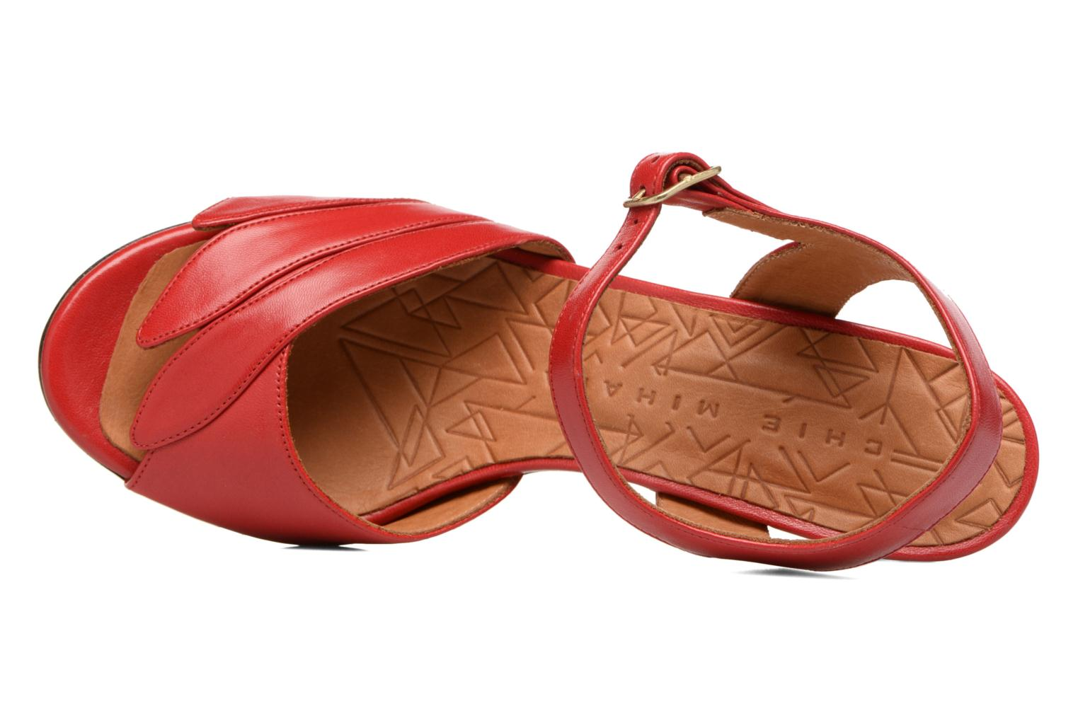 Sandals Chie Mihara Jantra Red view from the left