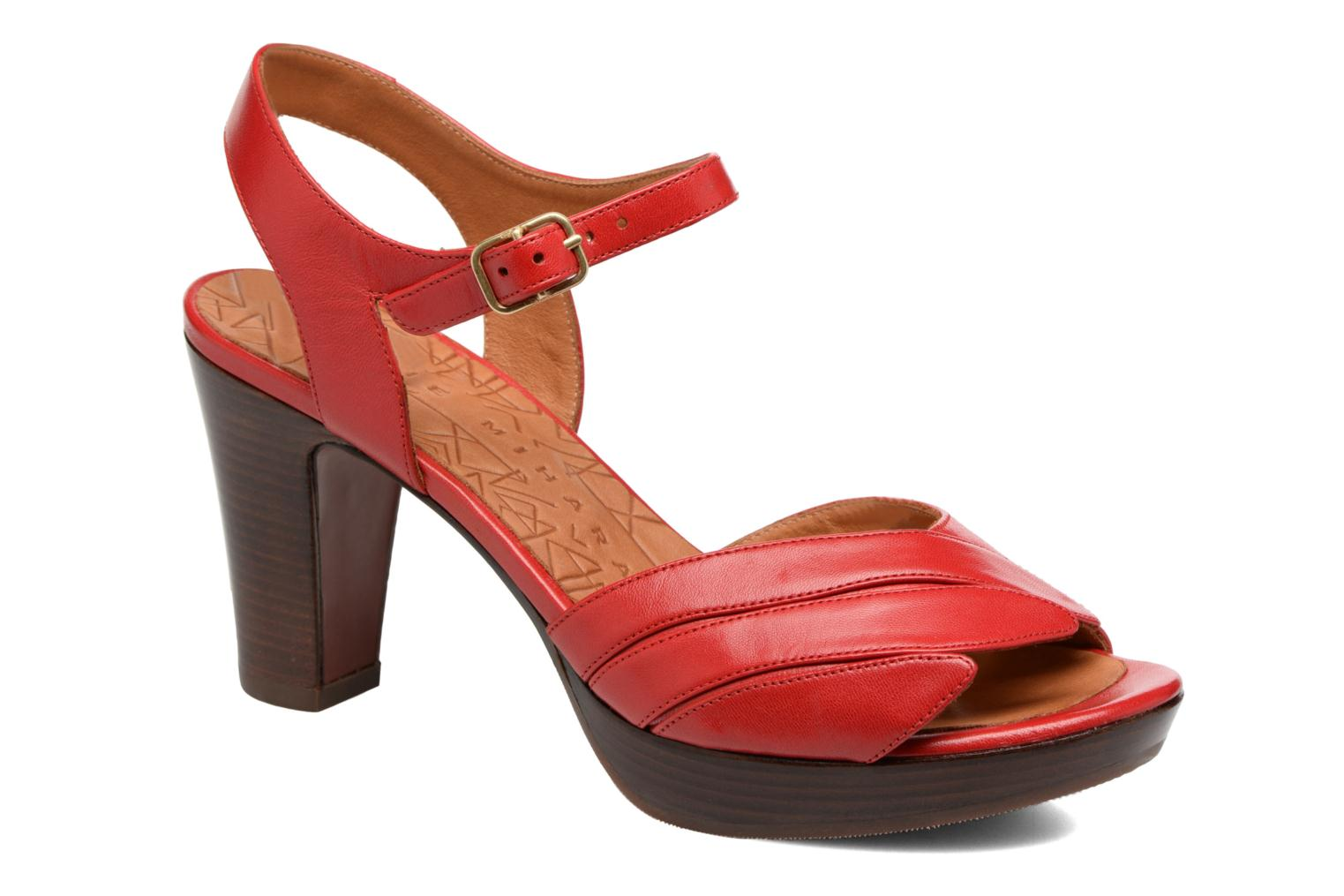 Sandals Chie Mihara Jantra Red detailed view/ Pair view