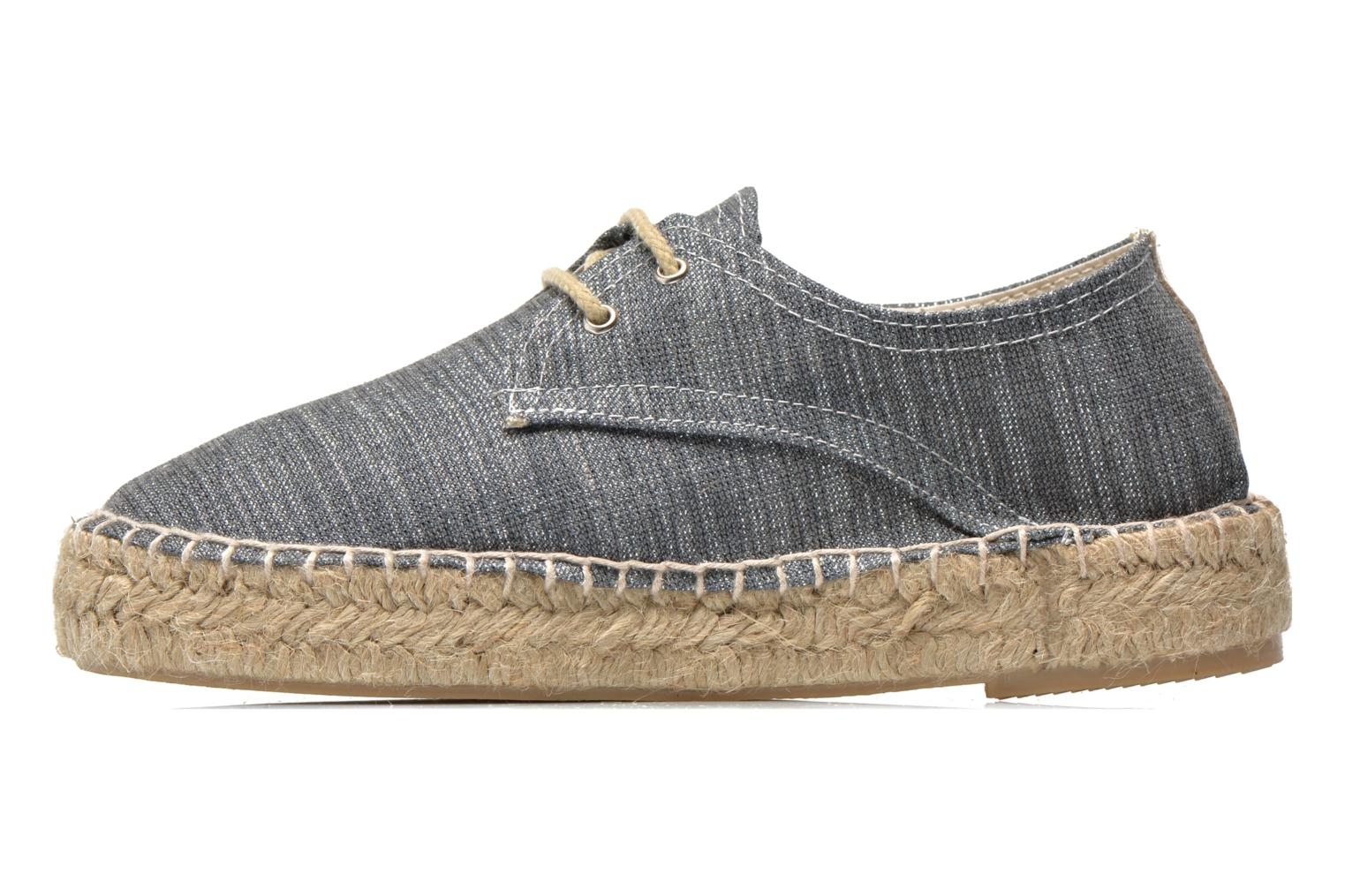 Espadrilles Gioseppo Jaquita Silver front view