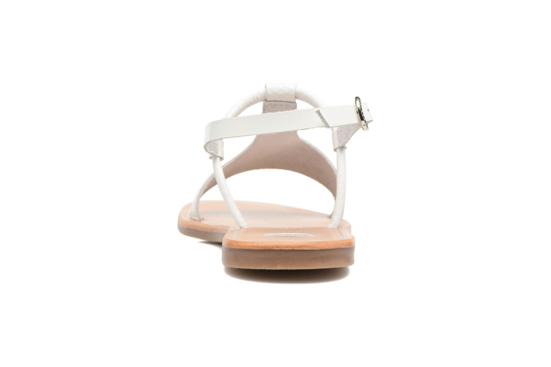Sandales et nu-pieds Gioseppo Bavana Blanc vue droite