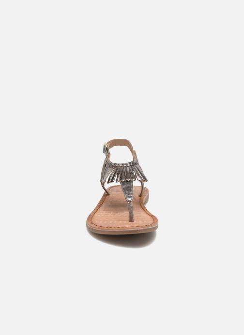 Sandalen Gioseppo Lea silber schuhe getragen