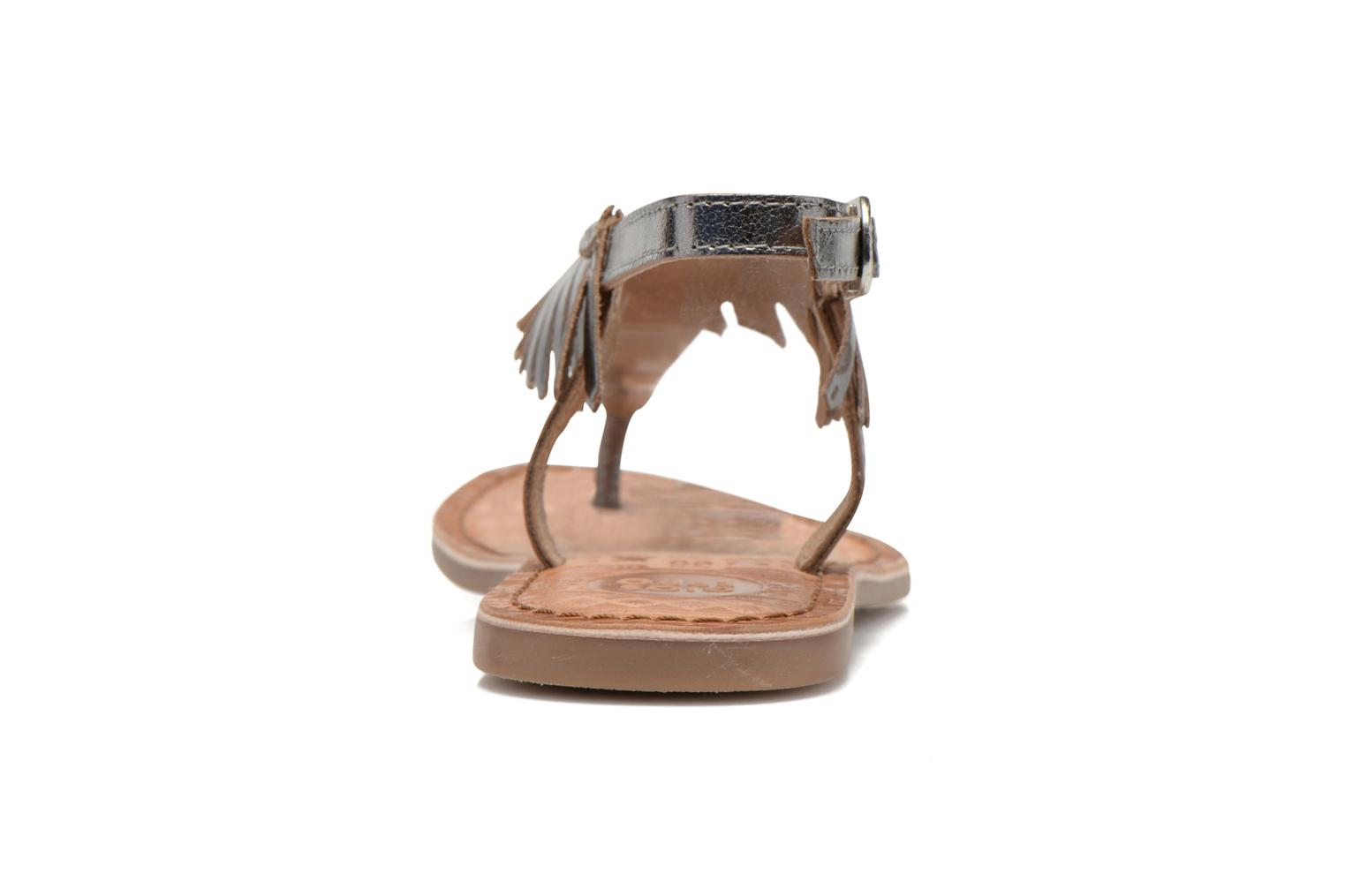 Sandals Gioseppo Lea Silver view from the right