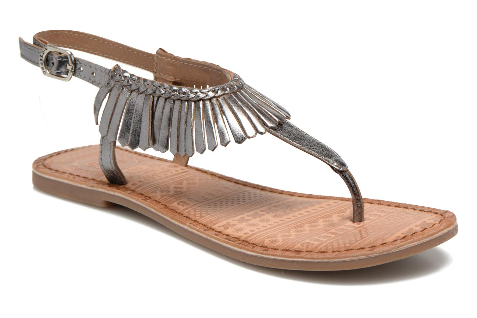Sandals Gioseppo Lea Silver detailed view/ Pair view