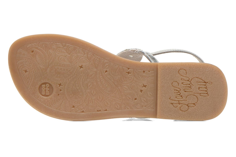 Sandales et nu-pieds Gioseppo Ami Argent vue haut