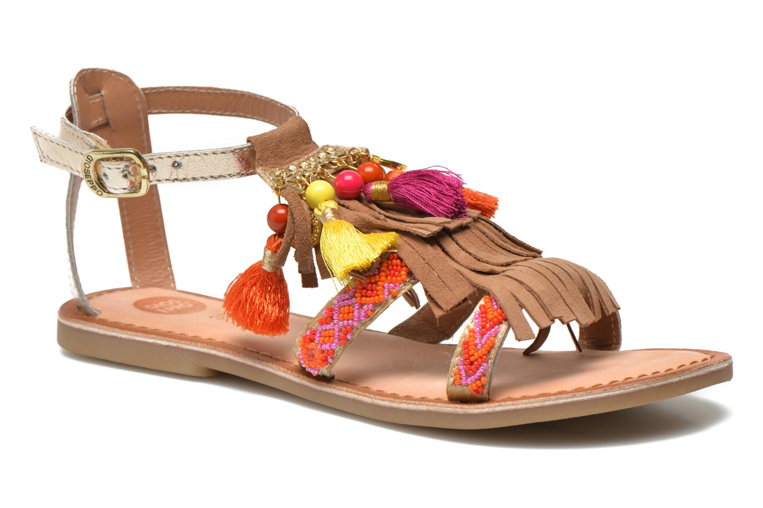 Sandals Gioseppo Dima Brown detailed view/ Pair view