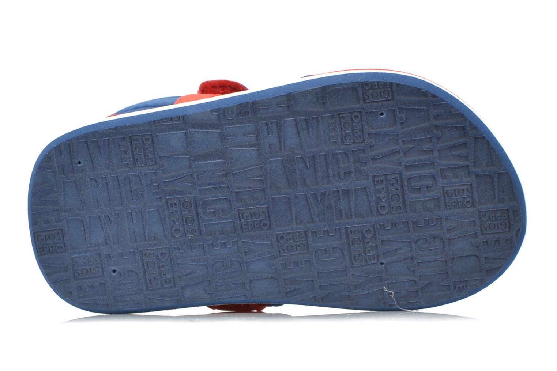 Sandales et nu-pieds Gioseppo Flete Bleu vue haut