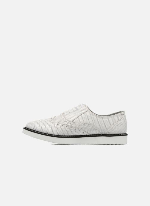 Chaussures à lacets Ippon Vintage Andy k perfo Blanc vue face