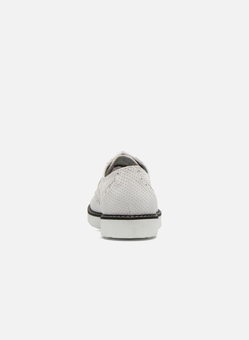 Zapatos con cordones Ippon Vintage Andy k perfo Blanco vista lateral derecha