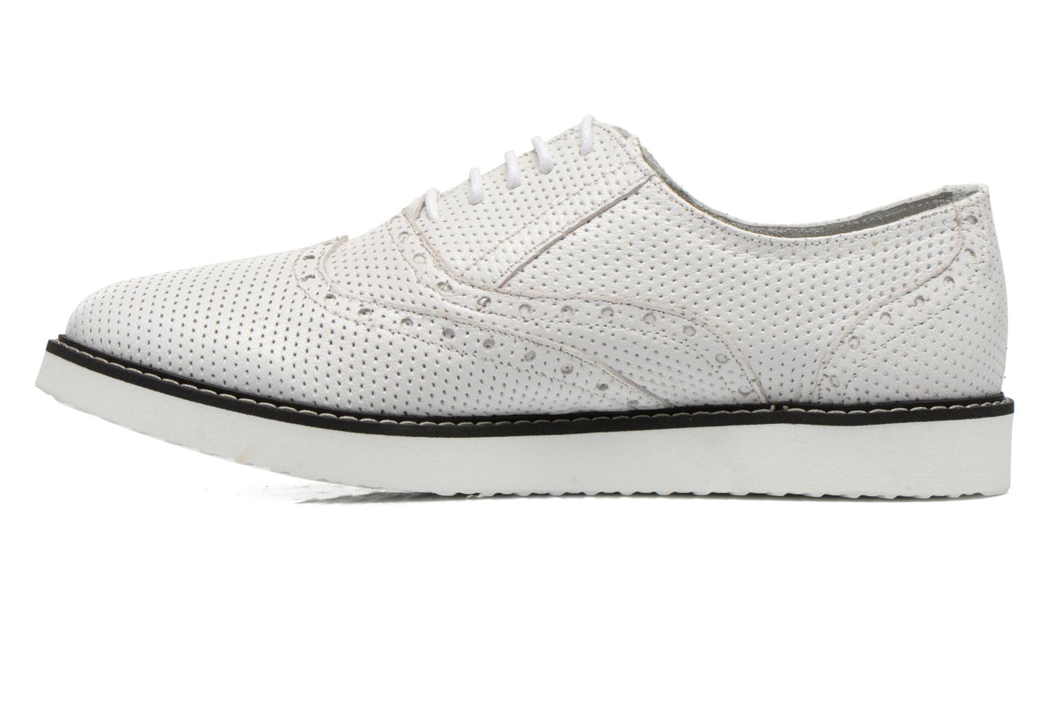 Lace-up shoes Ippon Vintage Andy k perfo White front view