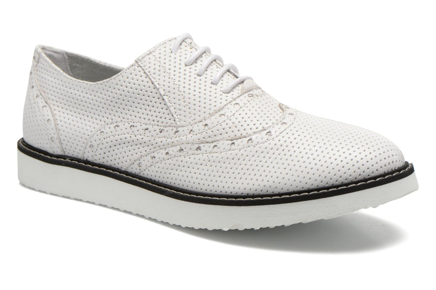 Lace-up shoes Ippon Vintage Andy k perfo White detailed view/ Pair view