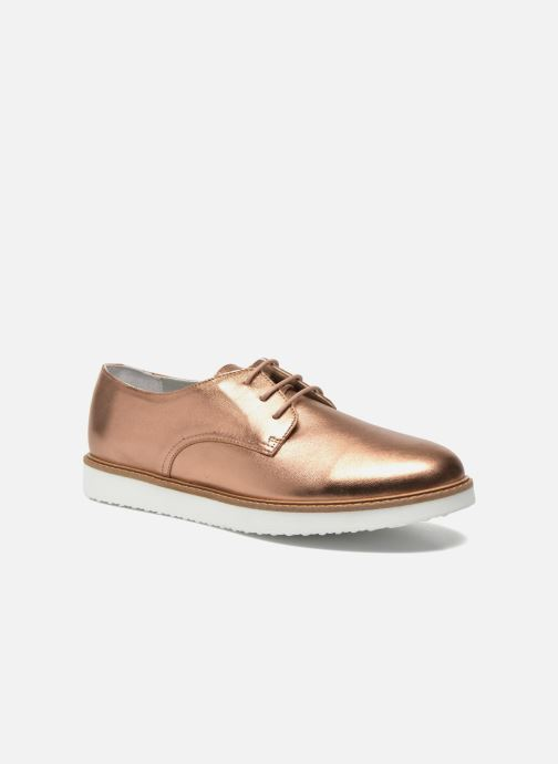 Schnürschuhe Damen James metal