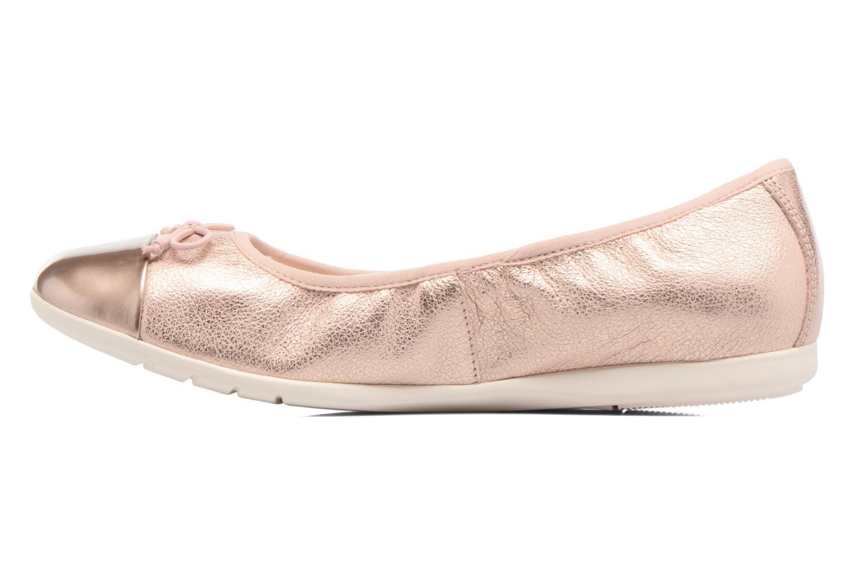 Bailarinas Clarks Dance Puff Jnr Rosa vista de frente
