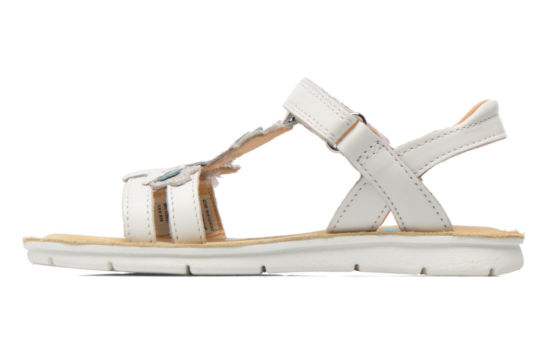 Sandales et nu-pieds Clarks MimoGracie Blanc vue face