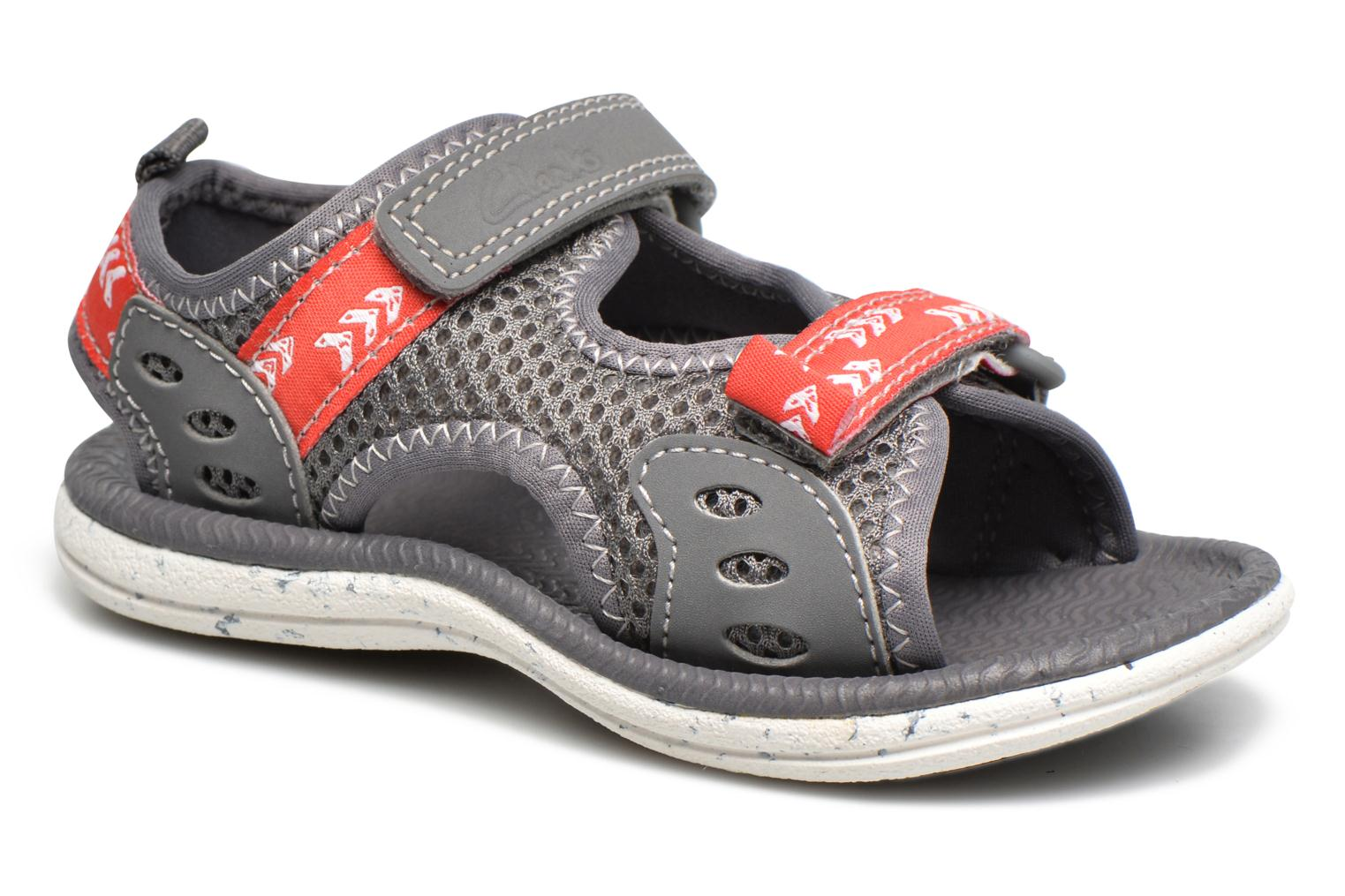 Sandals Clarks PiranhaBoy Fst Grey detailed view/ Pair view