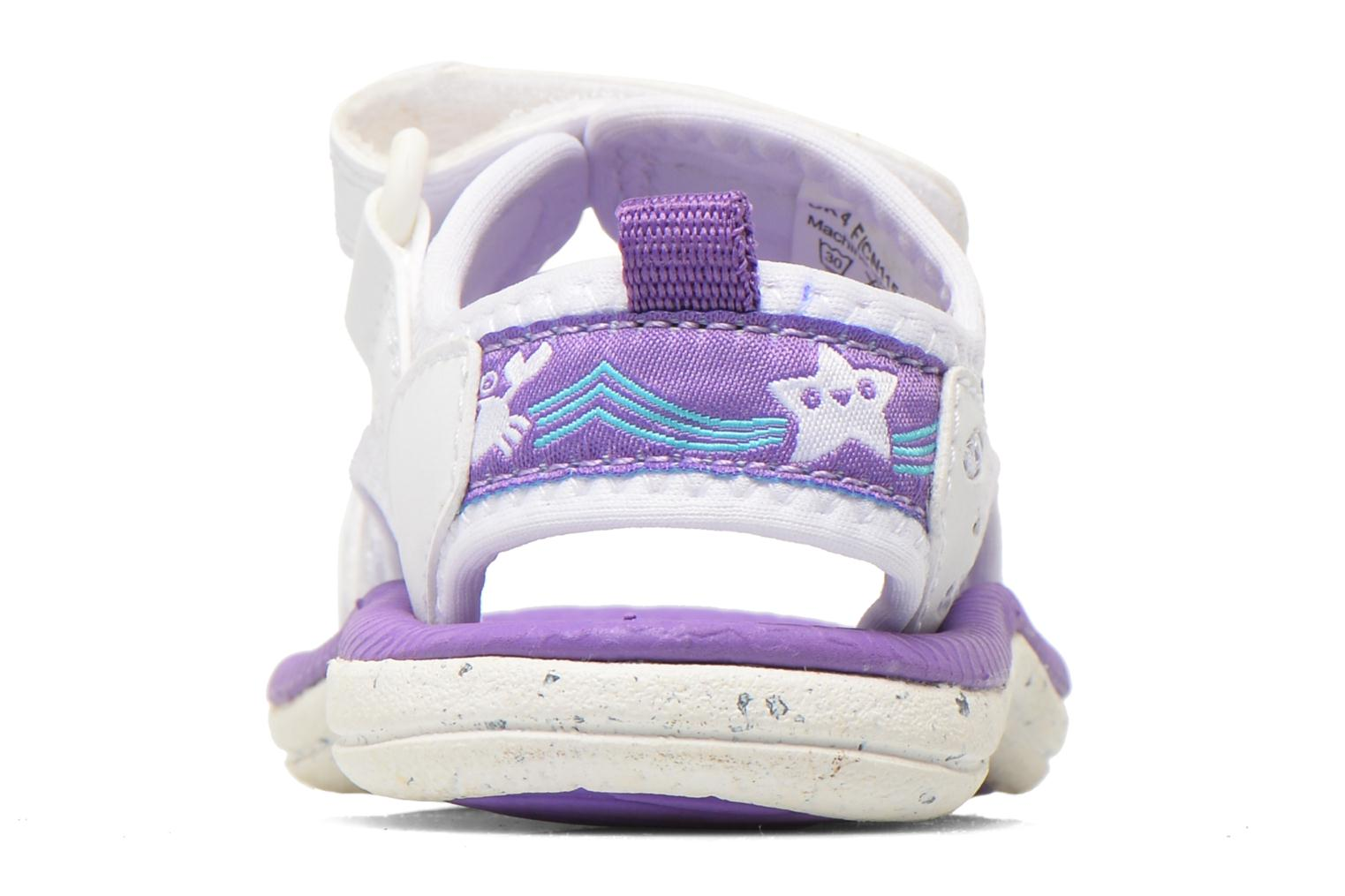 Sandals Clarks Star Games Fst White view from the right